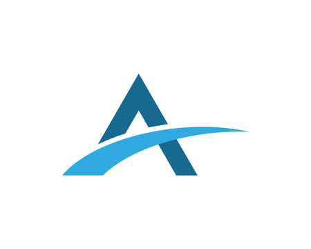 A Letter Bridge icon vector illustration Logo template design