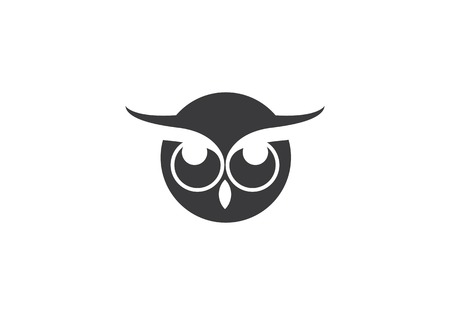 Owl logo template vector icon Illustration