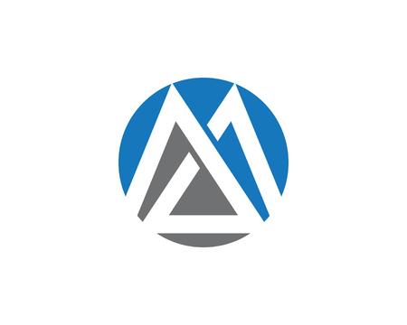M Letter Logo Template Vector Icon Illustration Design Ilustração