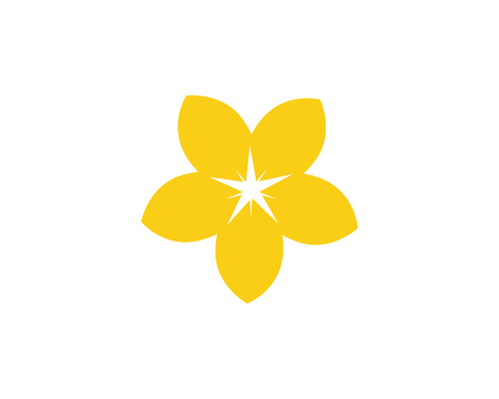 Plumeria flower icon vector illustration design logo template Иллюстрация