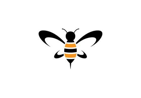 꿀벌 로고 템플릿 벡터 아이콘 일러스트 디자인