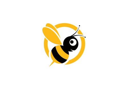 Bee Logo Template vector icon illustration design Stock Vector - 99717347