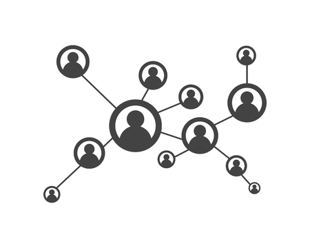 People network and social icon design template. Stock Illustratie
