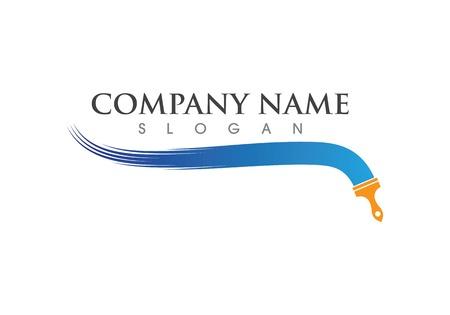 plantilla de vector de logotipo de pintura