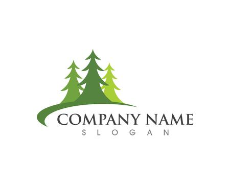 Cedar tree Logo template vector icon illustration design Illustration