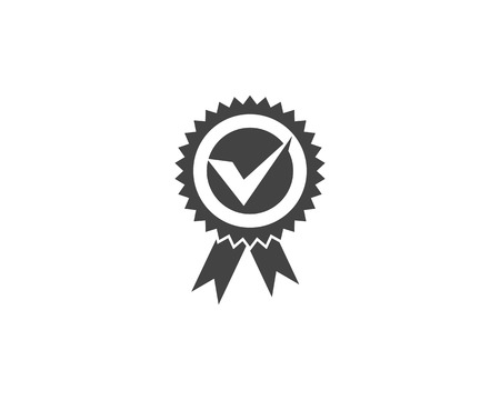 Approved or Certified Medal Icon illustration design