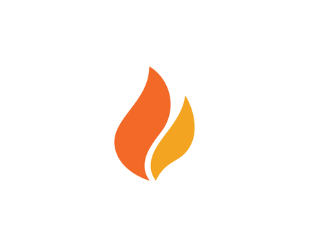 Fire flame icon illustration design