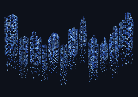 city skyline background vector illustration design