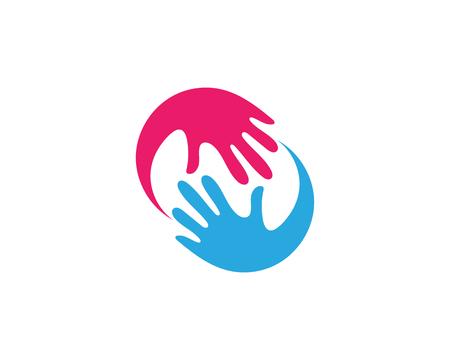 Mano Cuidado Logotipo Plantilla Vector Icono Negocio