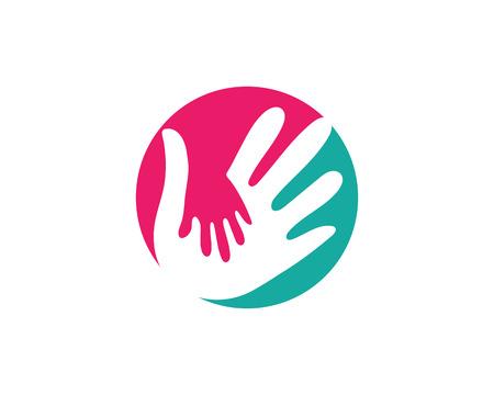 Mano Cuidado Logotipo Plantilla Vector Icono Negocio Logos
