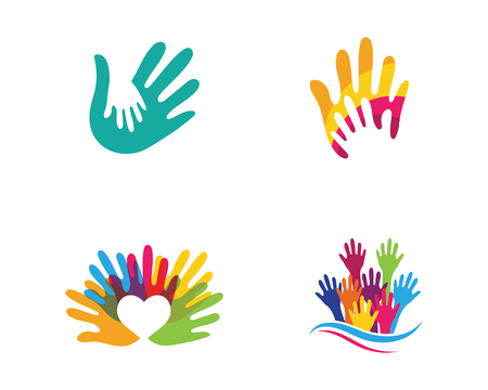 Hand Care Logo Template vector icon Business 스톡 콘텐츠 - 100524721