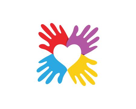 Icono de vector de plantilla de logotipo de cuidado de mano para negocios
