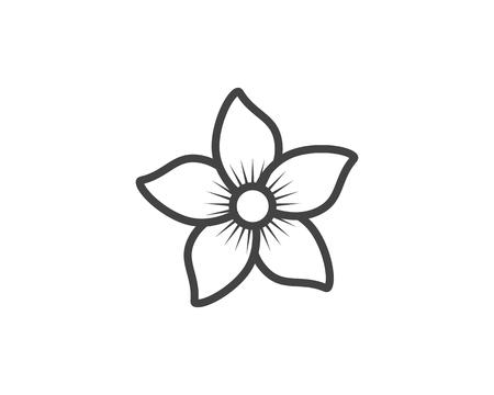 Ilustración de vector de icono de flor de jazmín.