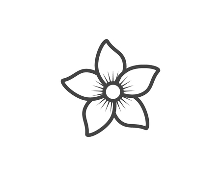 Jasmine flower icon vector illustration.