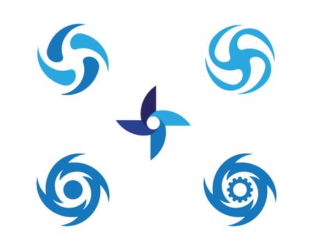 Draaikolk vector illustratie pictogram Logo sjabloonontwerp
