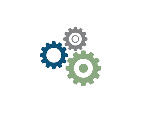Gear Machine Template vector icon illustration design Illustration