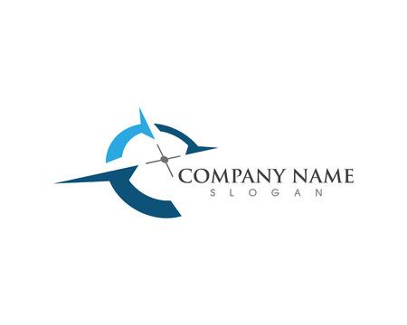 Diseño de ilustración de icono de vector de plantilla de logotipo de brújula Logos