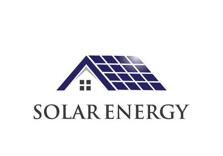 solar energy logo vector template