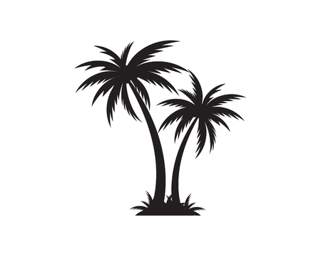 Palm tree summer icon template vector illustration Illustration