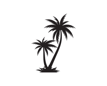 palm tree summer icon template vector illustration royalty free