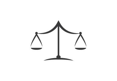 Disegno dell'illustrazione dell'icona di vettore del modello di logo di legge