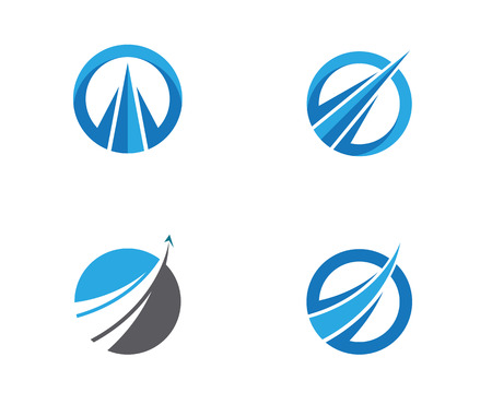 Faster Logo Template vector icon illustration design Stock Illustratie