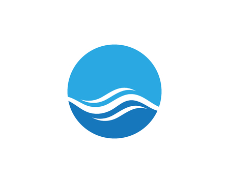 Water wave icon vector illustration design logo template 向量圖像