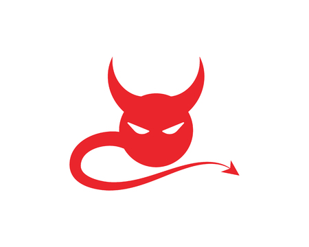 Devil horn Vector icon design illustration Template Çizim