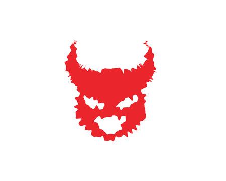 Devil horn Vector icon design illustration Template Illustration