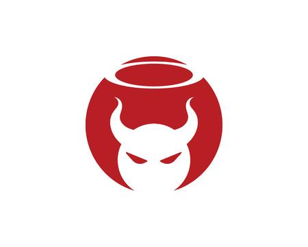 Devil horn Vector icon design illustration Template Stock Illustratie