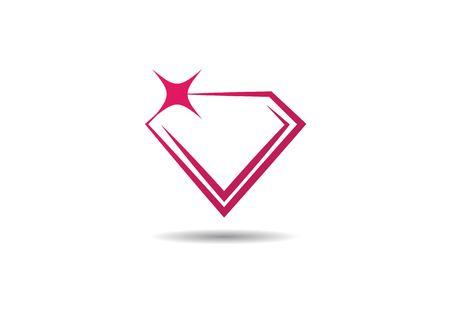 Diamant-Logo-Schablonenvektorikonen-Illustrationsentwurf Logo