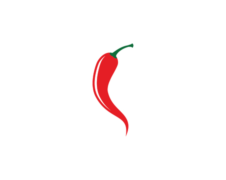 Red hot natural chili icon Template vector Illustration 일러스트