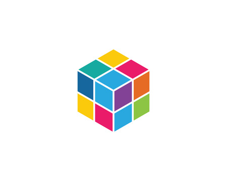 Cube Template vector icon illustration design Stock Illustratie
