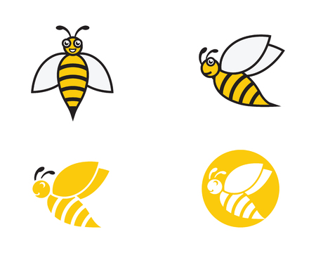 bee template vector icon illustration design royalty free cliparts