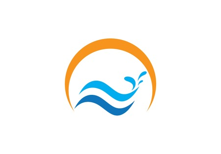 Water Wave symbol and icon Illustration