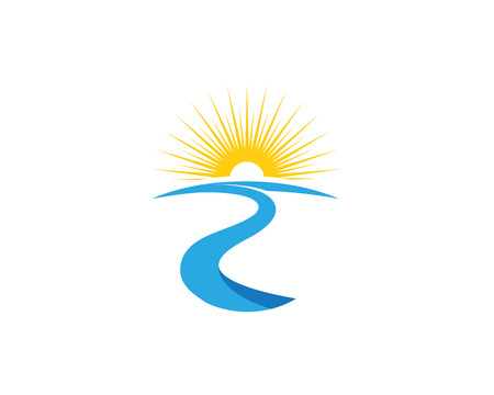 River Template vector icon illustration design