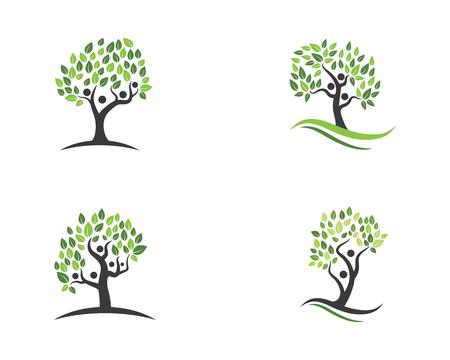 albero genealogico simbolo icona logo design illustrazione del modello Logo