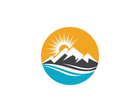 Mountain icon Logo Template Vector illustration design 일러스트