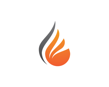 Fire flame Logo Template vector illustration design
