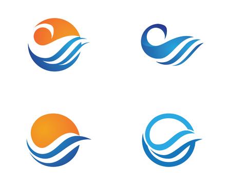 Water wave icon vector illustration design logo Vectores