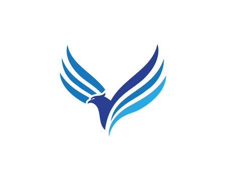 Wing Falcon Logo Template vector illustration design