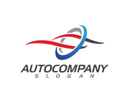 speed Auto car Logo Template vector illustration icon design Иллюстрация