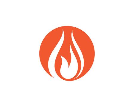 Fire flame Logo Template vector illustration design