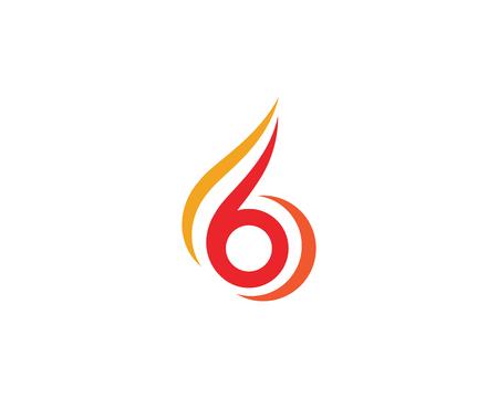 Feuerflamme Logo Vorlage Vektor-Illustration Design
