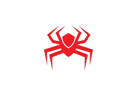 Spider logo template vector icon illustration design