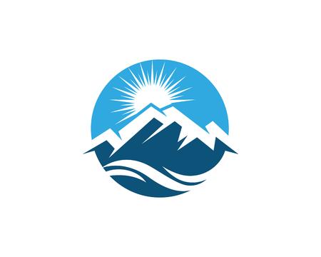 Mountain icon Logo Template Vector illustration design Vectores