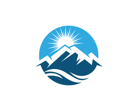 Mountain icon Logo Template Vector illustration design Reklamní fotografie - 102083230