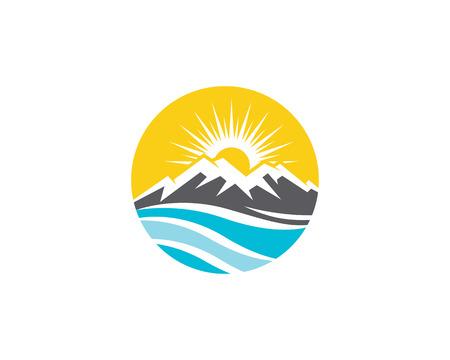 Mountain icon Logo Template Vector illustration design Ilustrace