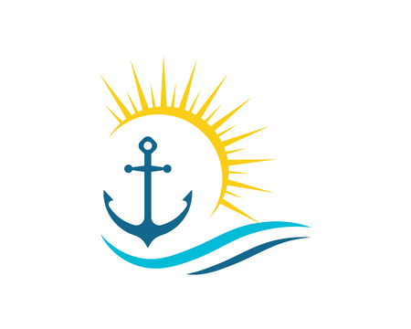 Anchor icon Logo Template vector illustration
