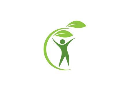 Human character logo sign. Health care logo